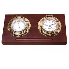 Porthole Desk Clock Set