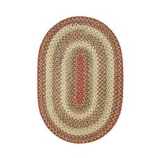 Homespice Decor 8' x 10' Oval Pumpkin Pie Cotton Braided Rug