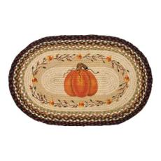 Pumpkin Candy Corn Rug