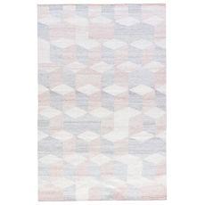 Geometric Pattern Polyester Ridge Area Rug
