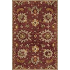 Classic Oriental Pattern Red/Ivory Wool Area Rug (8X11)