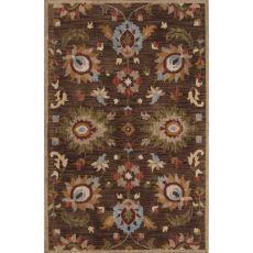 Classic Oriental Pattern Brown/Yellow Wool Area Rug (8X11)