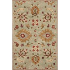 Classic Oriental Pattern Blue/Taupe Wool Area Rug (8X11)