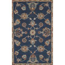 Classic Oriental Pattern Blue Wool Area Rug (8X11)
