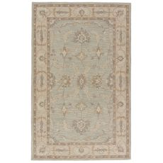 Classic Oriental Pattern Blue/Gray Wool Area Rug ( 8X11)