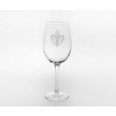 Grand Fleur De Lis White Wine Glasses, Set of 4
