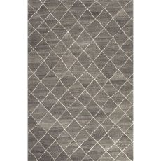 Contemporary Tribal Pattern Gray/Ivory  Wool Area Rug (9X12)