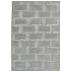 "Boxes Grey Rug 42"" x 66"""