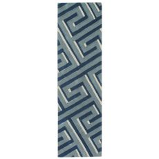 "Maze Denim Rug 27"" X 8'"