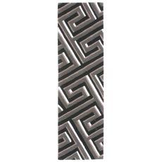 "Maze Grey Rug 27"" x 8'"