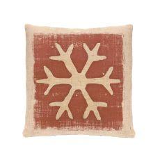Rustic Snowflake 18X18 Pillow