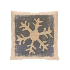 Rustic Snowflake 18X18 Pllw