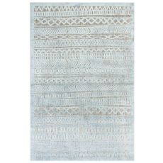 "Liora Manne Rialto Tribal Stripe Indoor/Outdoor Rug Aqua 23""X7'6"""