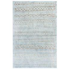 "Liora Manne Rialto Tribal Stripe Indoor/Outdoor Rug Aqua 4'10""X7'6"""