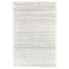 "Liora Manne Rialto Tribal Stripe Indoor/Outdoor Rug Ivory 23""X7'6"""