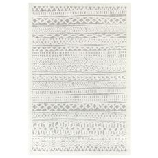 "Liora Manne Rialto Tribal Stripe Indoor/Outdoor Rug Ivory 39""X59"""