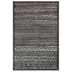 "Liora Manne Rialto Tribal Stripe Indoor/Outdoor Rug Charcoal 4'10""X7'6"""
