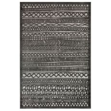 "Liora Manne Rialto Tribal Stripe Indoor/Outdoor Rug Charcoal 7'10""X9'10"""