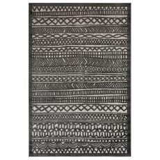 "Liora Manne Rialto Tribal Stripe Indoor/Outdoor Rug Charcoal 6'6""x9'4"""