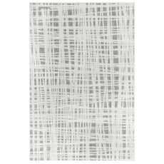 "Liora Manne Rialto Grid Indoor/Outdoor Rug Ivory 23""X7'6"""