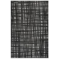 "Liora Manne Rialto Grid Indoor/Outdoor Rug Charcoal 23""X7'6"""