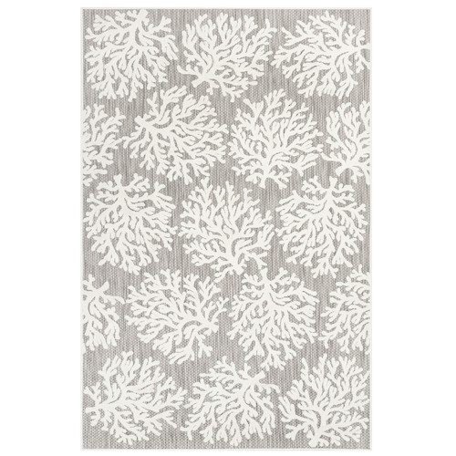 "Liora Manne Rialto Coral Indoor/Outdoor Rug Ivory 4'10""X7'6"""