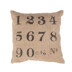 """Modern/Contemporary Pattern Taupe/Black Jute Down Fill Pillow ( 20""""X20"""")"""