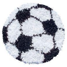 Shaggy Raggy Soccer Ball Shag Rug