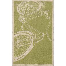 Bicycle Green Hook Rug
