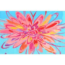 Blossom Flower Hook Indoor / Outdoor Rug - 5X8