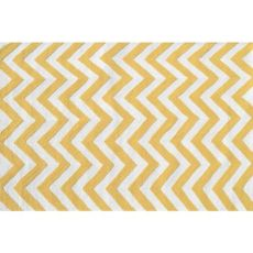 Chevron Yellow Hook Indoor / Outdoor Rug - 2.8X4.8