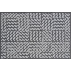 Basket Weave Grey Hook Rug