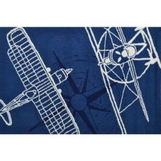 Outline Plane Navy Indoor / Outdoor Rug