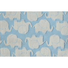 Elephant Blue Indoor / Outdoor Rug Tufted