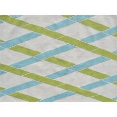 Bamboo Indoor / Outdoor Hook Rug - 7X10