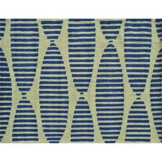 Navy Stamps Indoor / Outdoor Rug - 5X7