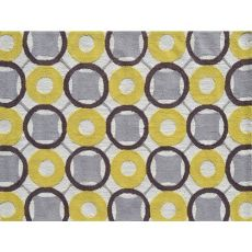 Rounders Yellow Indoor / Outdoor Rug - 5X7