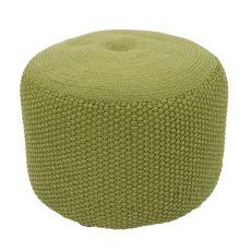 """Green Polypropylene Pouf (20""""X20""""X14"""")"""