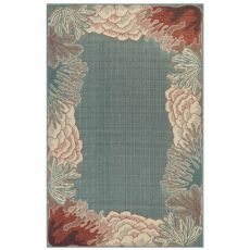"Liora Manne Riviera Reef Border Indoor/Outdoor Rug Ocean 4'10""X7'6"""