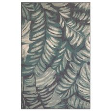 "Liora Manne Riviera Palm Indoor/Outdoor Rug Teal 6'6""X9'3"""