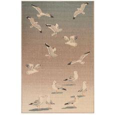 """Liora Manne Riviera Seagulls Indoor/Outdoor Rug Ocean 4'10""""X7'6"""""""