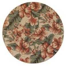 """Liora Manne Riviera Tropical Flower Indoor/Outdoor Rug Cream 7'10"""" Rd"""