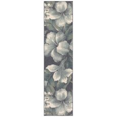 "Liora Manne Riviera Tropical Flower Indoor/Outdoor Rug Navy 23""X7'6"""
