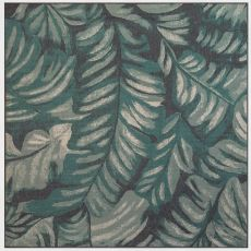 "Liora Manne Riviera Palm Indoor/Outdoor Rug Teal 7'10"" Sq"