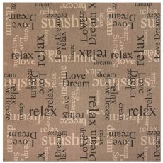 "Liora Manne Riviera Happy Words Indoor/Outdoor Rug Taupe 7'10"" Sq"