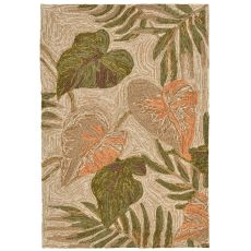 "Liora Manne Ravella Tropical Leaf Indoor/Outdoor Rug - Natural, 24"" by 36"""