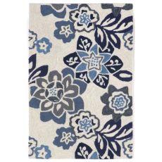 """Liora Manne Ravella Floral Indoor/Outdoor Rug - Blue, 24"""" By 36"""""""