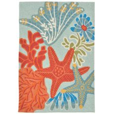 "Liora Manne Ravella Ocean Scene Indoor/Outdoor Rug - Blue, 24"" by 36"""