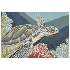 "Akumal Ocean Indoor Outdoor Rug 30""X48"""