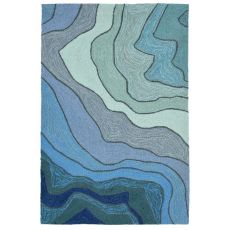 "Liora Manne Ravella Mykonos Indoor/Outdoor Rug - Blue, 24"" by 36"""